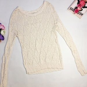 American Eagle beige knitted sweater size M